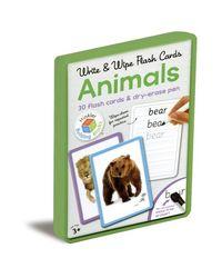 Write & Wipe Flash Cards Animals, na
