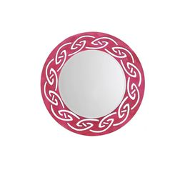 Aasra Decor Tribal Mirror Decor Wall Mirror, pink