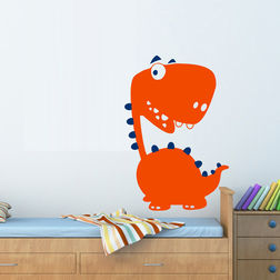 Wall Stickers For Kids Chipakk Kids Trex Orange AN5BM