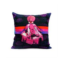 Mad(e) In India Kathakali Dancer Modern Cushion Covers, purple
