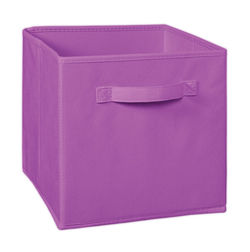 Storage Cube Box,  mauve cube