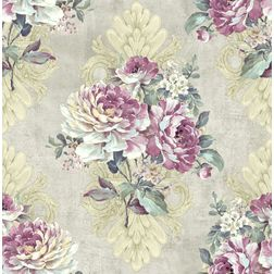 Elementto Wallpapers Floral Design Home Wallpaper For Walls ew70301-3, light grey