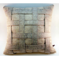 Grid Cushion Cover MYC-67, pack of 1, grey