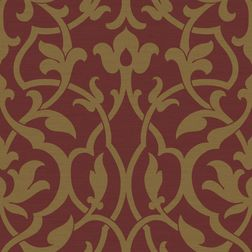 Elementto Wall papers Floral Design Home Wallpaper For Walls, red, ir21005 red  gold