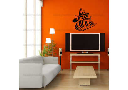 Kakshyaachitra Jazz Music Wall Stickers For Bedroom And Living Room, 48 44 inches