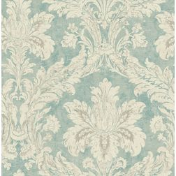 Elementto Wallpapers DaMask Design Home Wallpaper For Walls ew71000-2, sea green