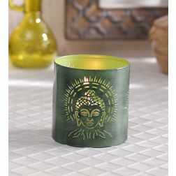 Aasra Decor Budha Candle Votive DecorVotives, green