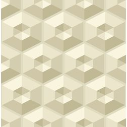 Elementto Geometric Design Modern 3D Wallpaper for Walls - td30500, beige