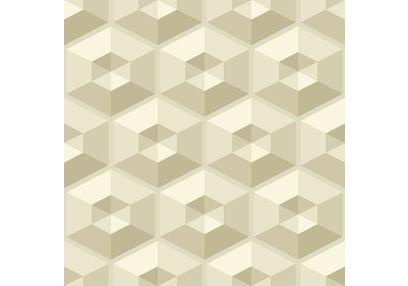 Elementto Geometric Design Modern 3D Wallpaper for Walls - td30500, beige