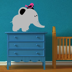Wall Stickers For Kids Chipakk Elephant Pink Bird AN2AM