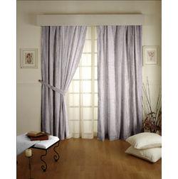 Tiara Abstract Readymade Curtain - 10, door, beige