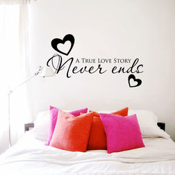 Kakshyaachitra True Love Story Wall Stickers For Bedroom And Living Room, 16 36 inches