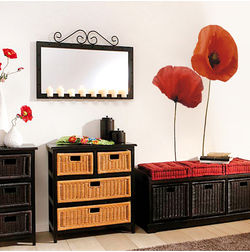 Wall Decals Home Decor Line Poppies - 57105