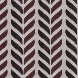 Shashank Geometric Curtain Fabric - 31, red, fabric