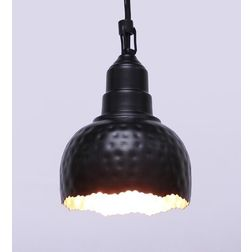 Aasra Decor Black & Bronze Uneven Semisphere Pendant Lamp Lighting Ceiling, multicolor
