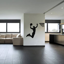 Kakshyaachitra Basketball Goal Throw Wall Stickers For Bedroom And Living Room, 48 61 inches