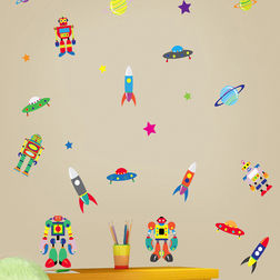 Wall Stickers For Kids Design Robots Colour Blast WD013