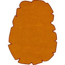 Floor Carpet and Rugs Hand Tufted AC ConceptAbstract Orange Carpets Online - SC-16-L, 3ftx5ft, orange