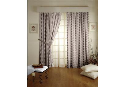 Shashank Geometric Readymade Curtain - 6, long door, beige