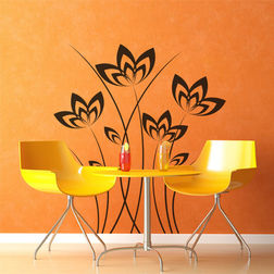 Kakshyaachitra Elegant Flower Wall Stickers For Bedroom And Living Room, 33 36 inches