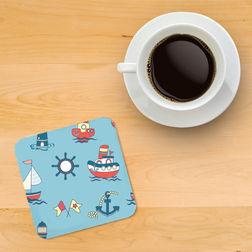 Printed wooden coasters Coaster 3, multi