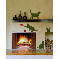 Children Wall Sticker Home Decor Line Cats - 58251