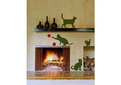 Children Wall Sticker Home Decor Line Cats - 58251