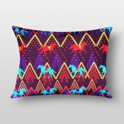The Elephant Company Aztec Stallion Home Cushion Covers, purple
