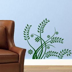 Wall Stickers Chipakk Leaf Pattern Green