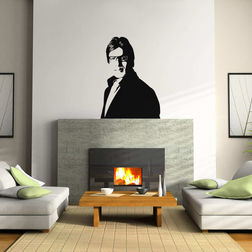 Kakshyaachitra Amitabh Bachan Wall Stickers For Bedroom And Living Room, 24 33 inches