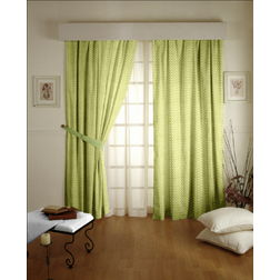 Constellation Geometric Readymade Curtain - SI107, long door, green