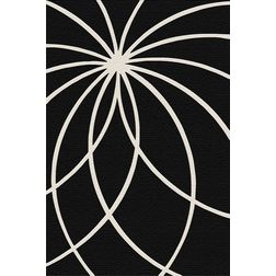 Floor Carpet and Rugs Hand Tufted, AC Concept Abstract Black Carpets Online - ACR (23) -L, black, 3ftx5ft