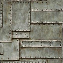 Elementto Steel Look Design Modern 3D Wallpaper for Walls - td30400, blue
