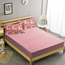 Double Bed Sheet With Two Pillow Covers BS-30, double, pink