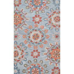 Floor Carpet and Rugs Hand Tufted, The Rug Concept Multi Carpets Online Tbilisi 6048-S, 3ft x 5ft, multi