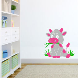 Wall Sticker For Kids Chipakk Cow Grey AN8BS