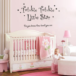 Kakshyaachitra Twinkle Twinkle Little Star Wall Stickers For Bedroom And Living Room, 24 13 inches