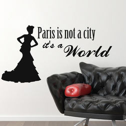 Kakshyaachitra Paris is not a city It's a World Wall Stickers For Bedroom And Living Room, 71 37 inches