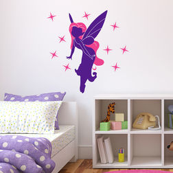 Wall Stickers For Kids Chipakk Fairy Pink