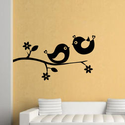 Kakshyaachitra Cute Birds Wall Stickers For Bedroom And Living Room, 48 27 inches