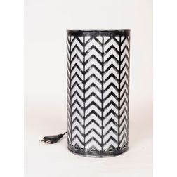 Aasra Decor Zig Zag Lamp Lighting Table Lamp, silver