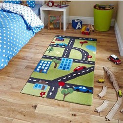 Floor Carpet and Rugs Hand Tufted, AC Concept Kids Green Carpets Online - KD-75-L, 3ftx5ft, green