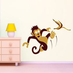 Wall Stickers For Kids Chipakk Slipping Monkey AN9AM