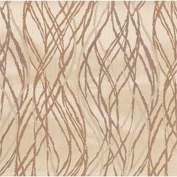 Zoya Geometric Readymade Curtain - WI704, long door, brown
