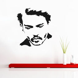 Kakshyaachitra Johnny Depp Wall Stickers For Bedroom And Living Room, 48 52 inches