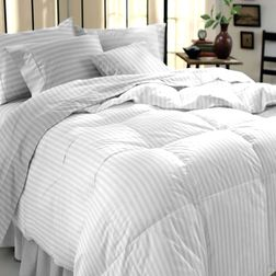 Satin Bed sheet with Two Pillowcovers, 100% Cotton 300 Thread Count, double, white