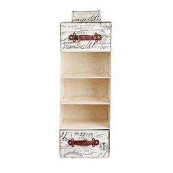 Calligrphy print Wardrobe Organiser,  snowbound white