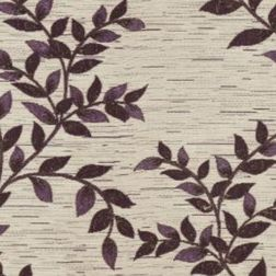 Raindrop Floral Curtain Fabric - 44, purple, fabric