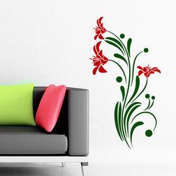 Wall Stickers Chipakk Flowering Branch7 Red