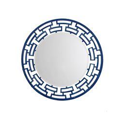 Aasra Decor ChainLink Mirror Decor Wall Mirror, blue